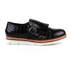 LYRIC-04 Fringe Oxford Style Sneakers